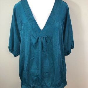 The Limited Turquoise 3/4 Sleeve Tunic Blouse XL
